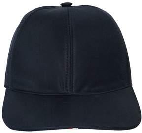 Thom Browne Cotton Twill Baseball Hat W/ Stripes
