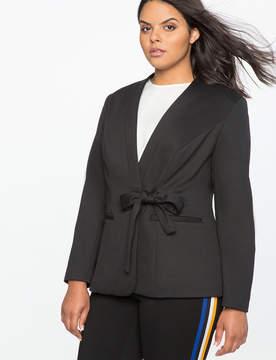 ELOQUII Tie Front Blazer