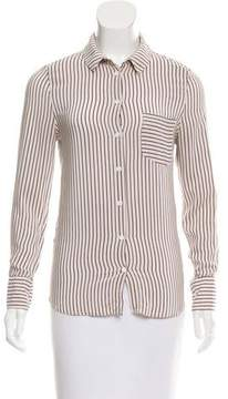 Band Of Outsiders Striped Silk Top