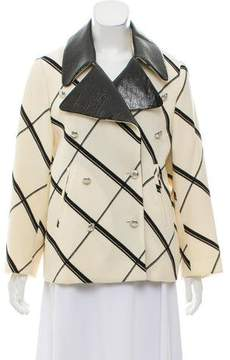 Bouchra Jarrar Printed Double-Breasted Jacket