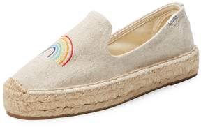 Soludos Women's Rainbow Embroidered Espadrille