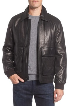 Andrew Marc Men's Lambskin Leather Aviator Jacket