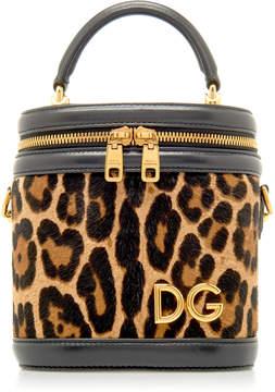 Dolce & Gabbana Leather-Trimmed Leopard Print Bucket Bag