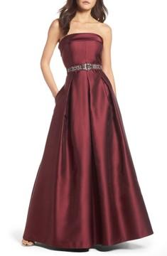 Eliza J Women's Embellished Belt Strapless Gown