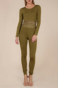 Wow Couture Olive Bandage Jumpsuit