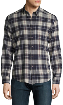 Gilded Age Men's Plaid Spread Collar Sportshirt