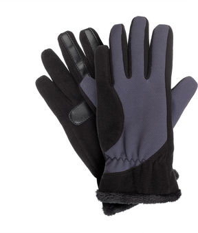 Isotoner Womens smartDRI Fleece with Tech Stretch Gloves and smarTouch Technology