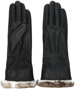 Agnelle fur-lined gloves
