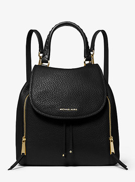 Michael Kors Viv Large Leather Backpack - BLACK - STYLE
