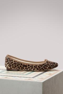 Repetto Leopard Cendrillon ballet pumps