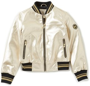 MICHAEL Michael Kors Big Girls 7-16 Faux-Leather Bomber Jacket