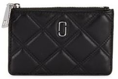 Marc Jacobs Quilted Leather Card and ID Holder - CABERNET - STYLE