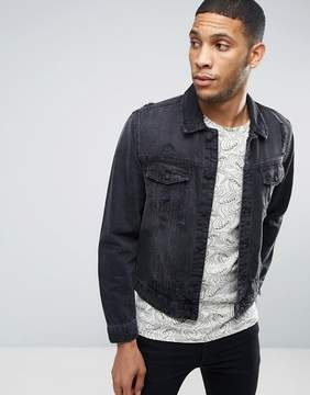 ONLY & SONS Denim Jacket with Distressed Details