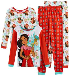Disney Disney's Elena of Avalor Girls 4-10 4-pc. Tops & Bottoms Pajama Set