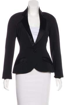 Christian Dior Silk-Trimmed Wool Blazer