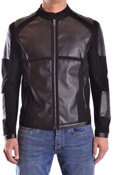 Dirk Bikkembergs Men's Grey/black Viscose Outerwear Jacket.
