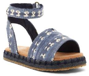 Toms Navy Batik Stripe Malea Sandal (Toddler & Little Kid)