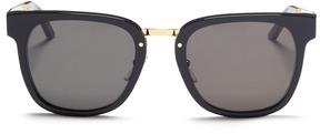 Super 'Giorno Francis' metal temple acetate square sunglasses