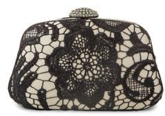 Jessica Mcclintock Embellished Lace Clutch