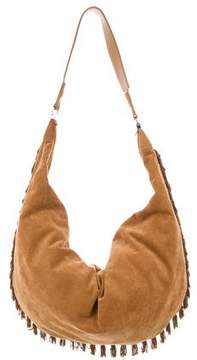 The Row Sling 19 Suede Fringe Hobo