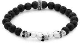 King Baby Studio Sterling Silver Skull Beaded Bracelet