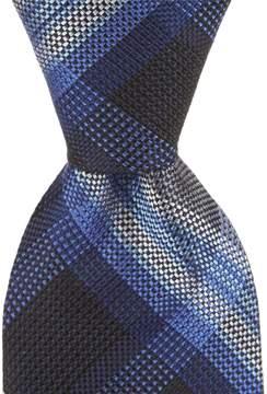 Roundtree & Yorke Pop Plaid Traditional 3 1/8#double; Silk Tie