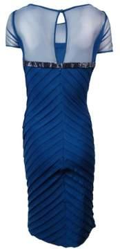 Calvin Klein Women's Beaded-Trim Illusion Jersey Dress