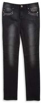 Vigoss Girl's Embellished Washed Jeans