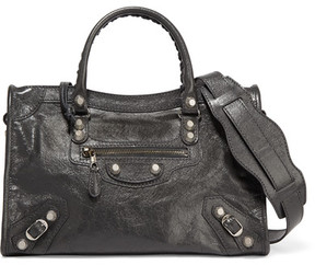 Balenciaga - Giant 12 City Aj Textured-leather Shoulder Bag - Gray