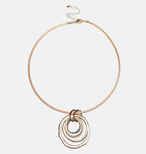 Avenue Ring Pendant Collar Necklace