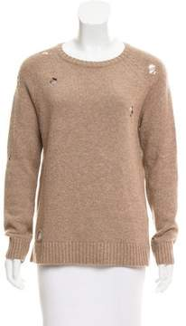 Anine Bing Distressed Knit Sweater