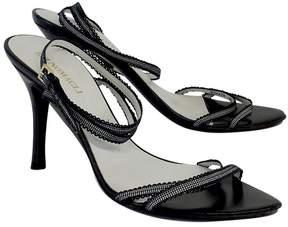 Bruno Magli Black Leather Strappy Heels