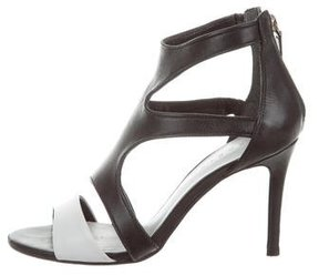 Sandro Leather Cutout Sandals