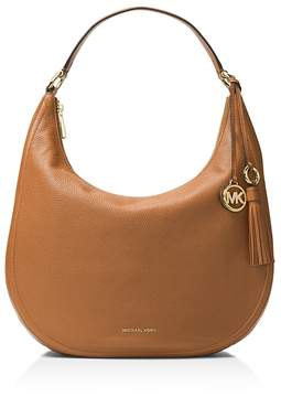 MICHAEL Michael Kors Lydia Large Leather Hobo - ACORN BROWN/GOLD - STYLE