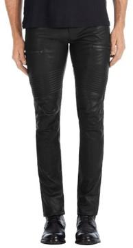 J Brand Men's Acrux Skinny Fit Moto Leather Pants