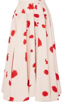 Calvin Klein Printed Silk Skirt - Red