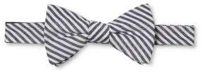 Merona Men's Blue And Gray Stripped Bow Tie Navy