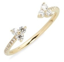 Ef Collection Women's Open Diamond Ring