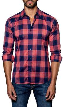 Jared Lang Semi-Fitted Plaid Shirt