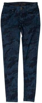 DL1961 Low-Rise Printed Jeans