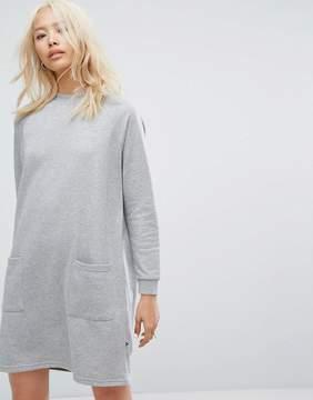 Noisy May Pocket Front Sweat Dress