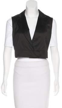 Cacharel Notched-Lapel Cropped Vest