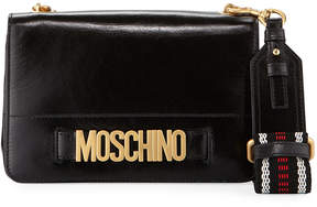 Moschino Small Leather Hardware Logo Crossbody Bag