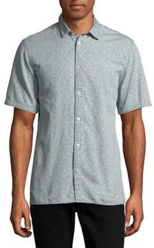 Selected Printed Cotton Regular-Fit Button-Down Shirt