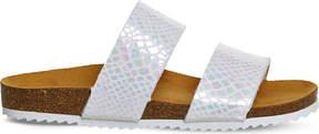 Office Oslo 2 metallic snake-print sandals