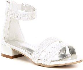 Kenneth Cole Reaction Kenneth Cole New York Girls' Julie Jazz Glitter Banded Dress Sandals