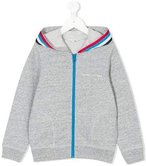 Little Marc Jacobs stripe trimmed hoodie