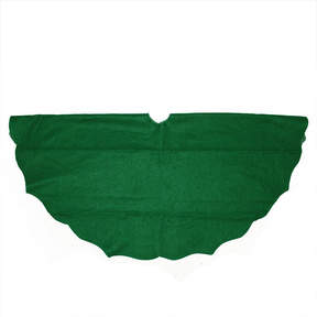 Asstd National Brand 48 Christmas Traditions Cardinal Green Scalloped Edge Christmas Tree Skirt