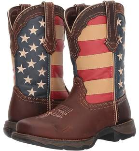 Durango Lady Rebel Flag Steel Toe Cowboy Boots