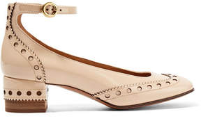 Chloé Perry Patent-leather Pumps - Beige